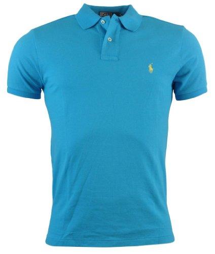 Polo Ralph Lauren Mens Custom Fit Mesh Polo Shirt - XXL - Aqua