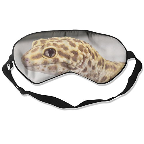- WUGOU Sleep Eye Mask Leopard Gecko Albino Lightweight Soft Blindfold Adjustable Head Strap Eyeshade Travel Eyepatch