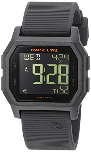 - Rip Curl Men's Quartz Sport Watch with Silicone Strap, Grey, 24.1 (Model: A2701CHG1SZ)