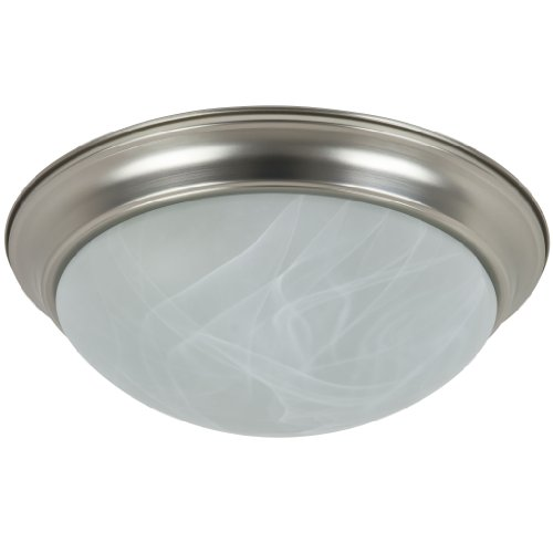 Sunlite DBN16/AL/GU24/ES 16-Inch Energy Saving Dome Ceiling Fixture, Polished Brass Finish with Frosted Glass