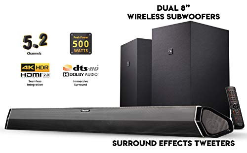 Nakamichi Shockwafe Plus 5.2Ch 500W 45-Inch Sound Bar for sale  Delivered anywhere in USA