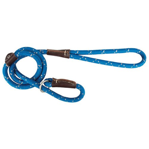 Night Viz Reflective Slip Lead bluee 4'