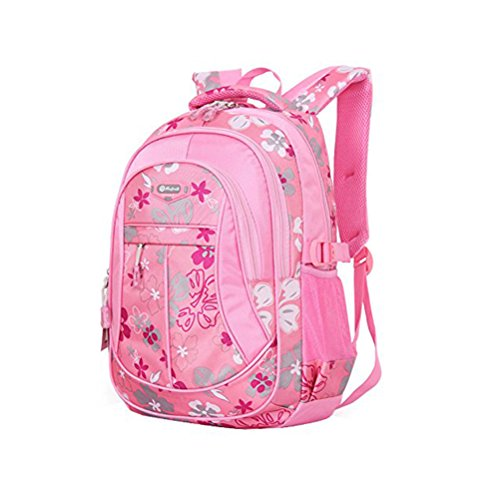 Small Backpack Student Girl Tinksky School Flower pink Primary Bookbag Size Bag Printed 5Yz57xwAq