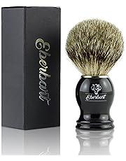 Eberbart Best Badger scheerkwast incl. gratis e-book – hoogwaardige natuurhaarborstel van echt dassenhaar in luxe geschenkverpakking – voor een huidvriendelijke en grondige scheerbeurt