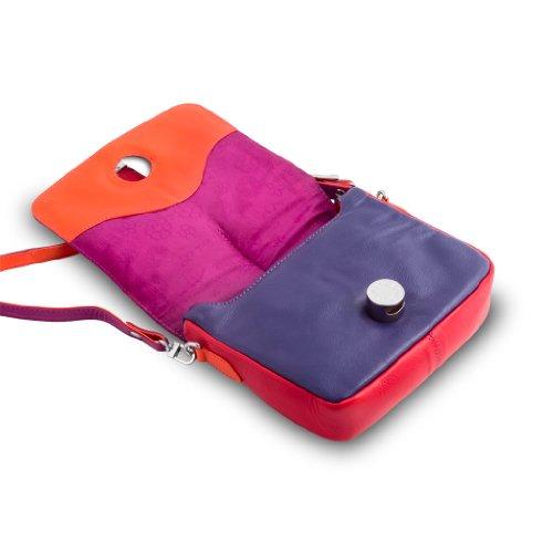 DuDu - Bolso al hombro de Piel para mujer Varios Colores multicolor