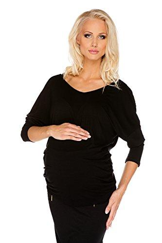 My Tummy Maternité maternité chemisier Margaret noir