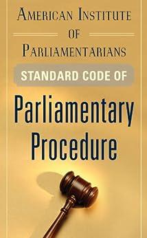 standard code of parliamentary procedure pdf