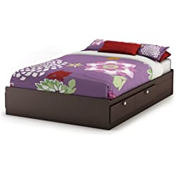 South Shore Furniture Cakao Collection Full Mates Bed, Chocolate
