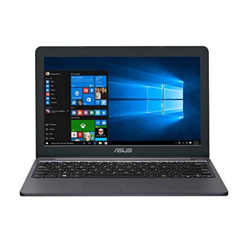 "ASUS VivoBook E203NA-YS03 11.6"" Featherweight design Laptop, Intel Dual-Core Celeron N3350 2.4GHz processor, 4GB DDR3 RAM, 64GB EMMC Storage, App based Windows 10 S"