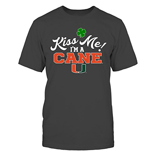 Miami Hurricanes - Kiss Me - ST Patrick's Day - District Men's Premium T-Shirt - Officially Licensed Fashion Sports Apparel