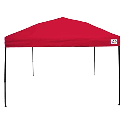 Impact Canopy 040020004-VC 10 x 10 Pop Instant Tent Included Steel Frame Canopy Accessories, Red : Garden & Outdoor