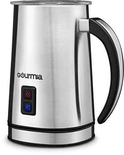 Gourmia GMF225 Cordless Electric Milk Frother & Heater for Extra Foamy Cappuccino, Latte & More, Stainless Steel, Detachable Base For Easy Serving (1 2 Cup Coconut Milk In Ml)