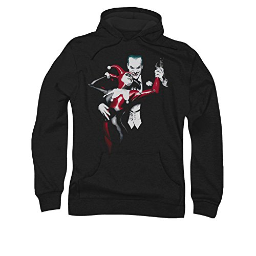 Simply Superheroes Mens harley quinn and the joker pullover hoodie Mens 3XL