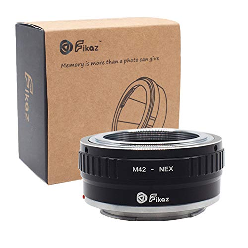 M42 to Sony E Mount Adapter, Fikaz Lens Mount Adapter for M42 Lens to Sony NEX E-Mount Camera, fits Sony Alpha A7 A7R NEX-3 NEX-3C NEX-5 NEX-5C NEX-5N NEX-5R NEX-6 NEX-7 NEX-VG10/20