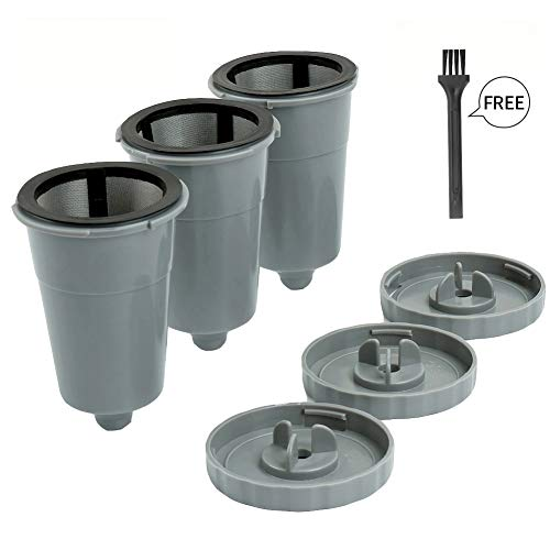 Reusable K Cups For Keurig 1.0 Brewers Universal Fit For B30 B40 B50 B60 B70 Series, Easy To Use Refillable Single Cup Coffee Filters, Eco Friendly Stainless Steel Mesh Filter (Pack of 3) (Best Reusable K Cup For Stronger Coffee)