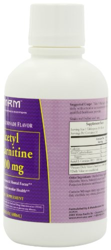 MRM Acetyl L Carnitine 1000 mg,Lemonade Flavor, Net 16 fl Ounce