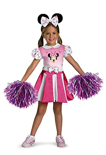 Disney Mickey Mouse Clubhouse Minnie Mouse Cheerleader Girls Costume, Medium/3T-4T (Minnie Mouse Costumes Girl)