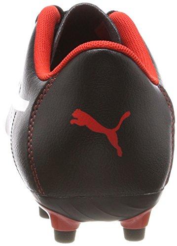 Puma Classico C FG, Chaussures de Football Homme, Noir Black-White-High Risk Red, 48.5 EU