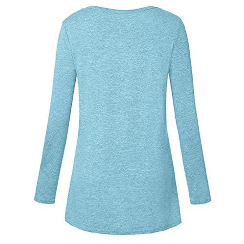 Crewneck D'entraînement Dri Blue shirt Femmes T Blouse Cool Sport Décontracté À Manches Tunique Zahuihuim Pull Top Yoga Longues Séance AI74w