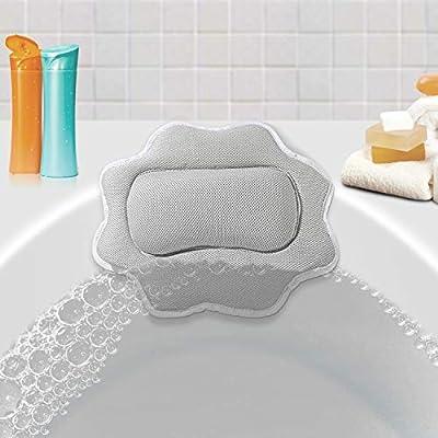 Bath Pillow Machine Washable Head Neck Sunflower Shape Non Slip 5D Air Mesh