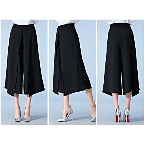 2a4c78974d5cdd free shipping Plus Size Women's High Waist Plain Wide Leg Palazzo Lounge  Capri Skirt Pants