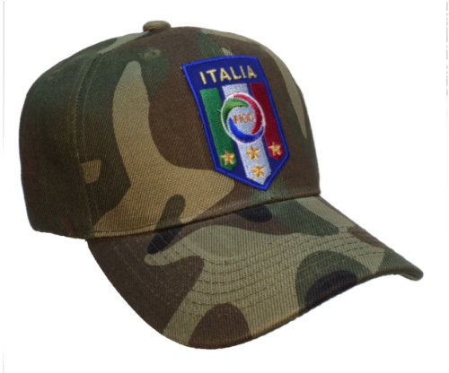 Italy Italia National Football Team FIGC Hat Camo Soccer Ball Cap by USNAVYSUBVET