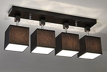 Plafoniere In Legno Fai Da Te : Plafoniera illuminazione a soffitto in legno massiccio lls452dpr