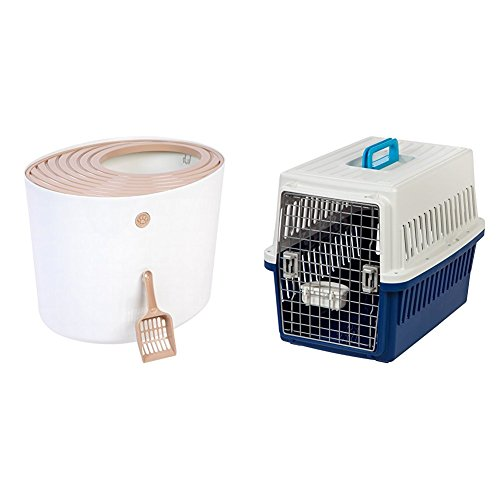 with Top-Entry Litter Boxes design