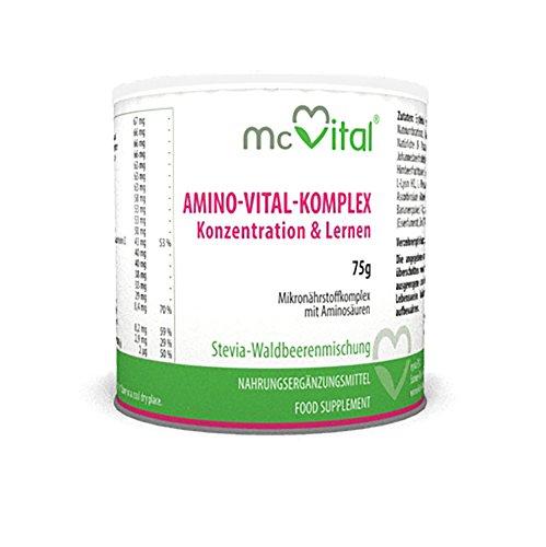 Amino-Vital-Komplex - Konzentration & Lernen - Muskelaufbau und Regeneration - 75 g