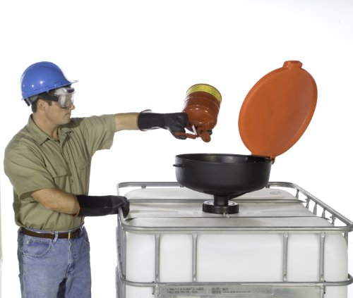 UltraTech 0656 Polyethylene Large Burp-Free Ultra-Drum Funnel, 22