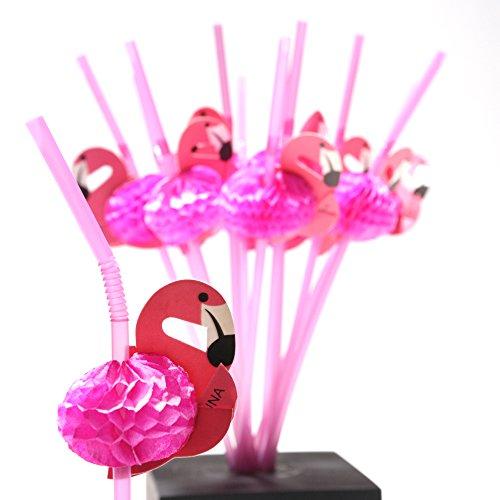 Fun Express Tissue Flamingo Straws - 12 Pieces