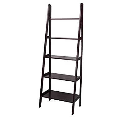 Casual Home 176-53 5-Shelf Ladder Bookcase, Espresso