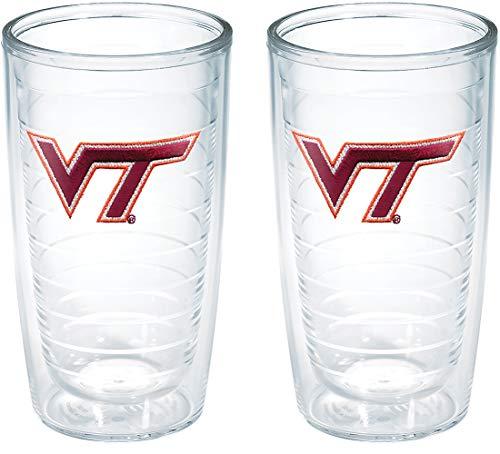 - Tervis Virginia Tech University Emblem Tumbler (Set of 2), 16 oz, Clear - 1005974