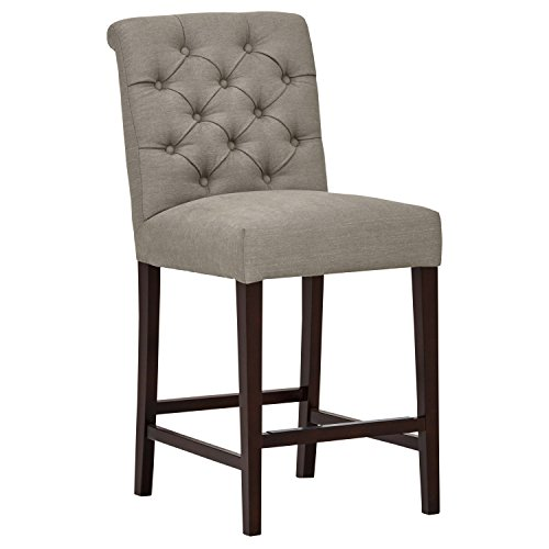 "Stone & Beam Carson Tufted Counter Stool, 41""H, Slate"