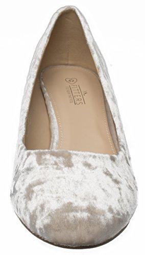 Beige Para Mujer De Footwear Fitters Vestir Zapatos Tela Y60XwSx
