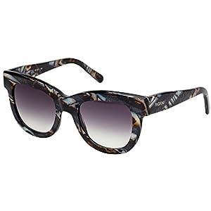 PAGANI Fiore Italian Designer Sunglasses for Women - Flexible Prescription Ready Frames - Unique Colors and Exclusive Designs - Includes Authentic Pagani Premium Case (Marble, Grey)