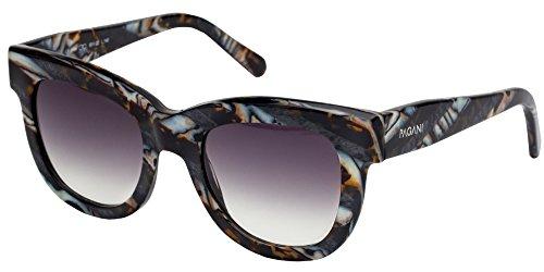 Pagani Fiore Italian Designer Sunglasses For Women   Flexible Prescription Ready Frames   Unique Colors And Exclusive Designs   Includes Authentic Pagani Premium Case  Marble  Grey
