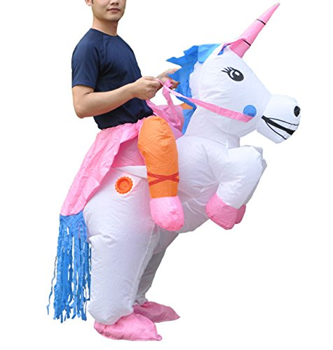 Unicorn Costumes Ideas (Inflatable Adult Ride On Unicorn Party Halloween Fancy Couple Disguise Costume)