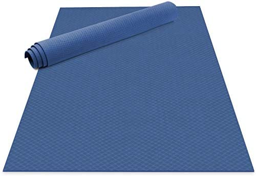 Odoland Large Yoga Mat for Pilates Stretching Home Gym Workout, Extra Thick Non Slip Eco Friendly Exercise Mat with Carry Strap
