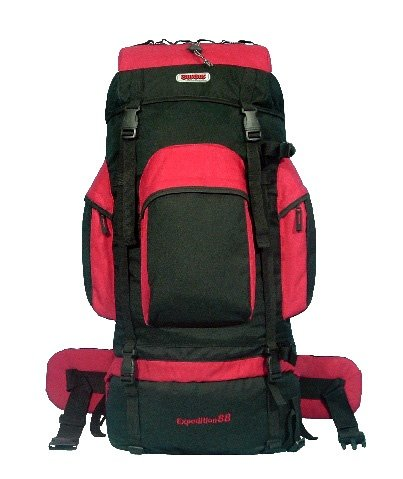 CUSCUS 88L 6200ci Internal Frame Hiking Camp Travel Backpack Red, Outdoor Stuffs