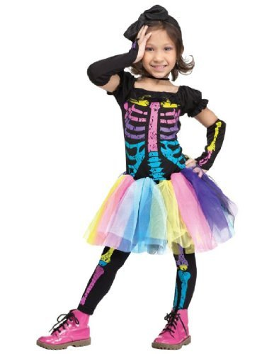 Fun World Funky Punky Bones Toddler Costume, Large 3T-4T, Multicolor -