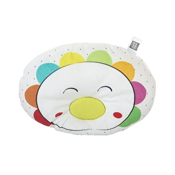 Mee Mee Breathable Baby Pillow with Head Support (White)