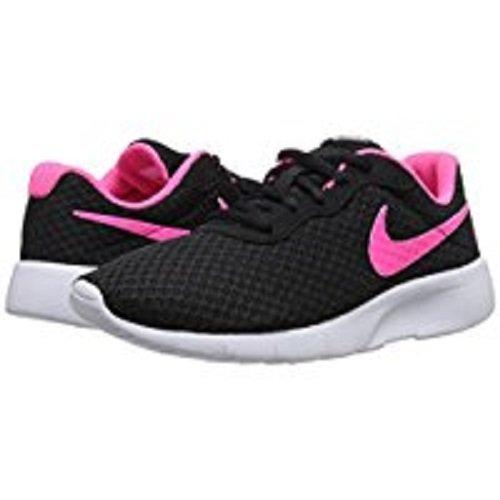 NIKE Kids Tanjun (GS) Black/Hyper Pink White Running Shoe 4 Kids US by Nike (Image #6)