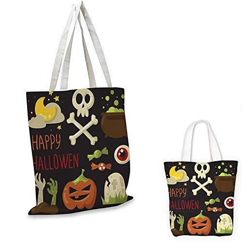 canvas laptop bag Happy Halloween elements