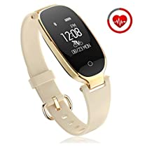 Fitness Tracker for Women Activity Watch and Heart Rate Monitor IP67 Waterproof Smart Bracelet with Sleep Monitor Pedometer Calorie Compatible with Android and iOS Smartphone