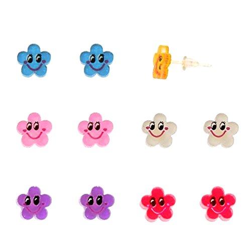 Earrings Acrylic Smiley Flower Earring product image