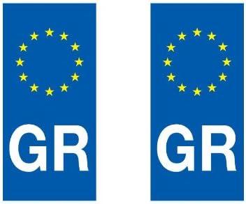 Adhesivo decorativo, diseño de placa de matrícula países europeos eurologo Auto, España: Amazon.es: Hogar
