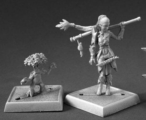 Reaper Miniatures 60147 Pathfinder Series Pathfinder Druid, Familiar Miniature