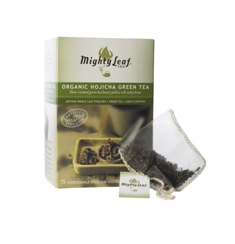 Mighty Leaf Tea Organic Hojicha Green Tea, 15-Count Whole Leaf Pouches (Pack of 3)