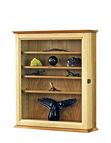 - Hickory Curio Display Case Cabinet *Made in the USA*